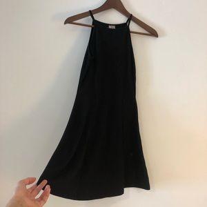 Strappy black skater dress